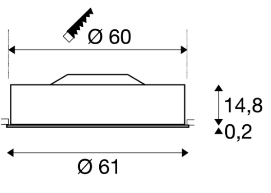 SLV  plafond inbouwarmaturen