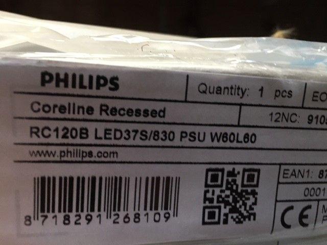 Philips inlegarmaturen t.b.v. kantoor